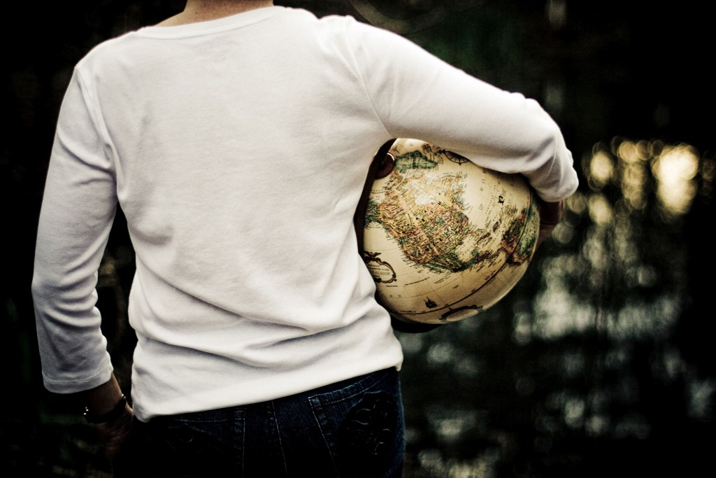 public-domain-images-free-stock-photos-woman-earth-globe-white-short-out...