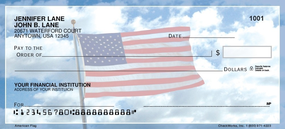 Fedex Box Prices >> American Flag - Personal Checks   Checkworks