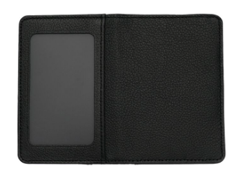 Black Leather Debit Card Wallet w/Window