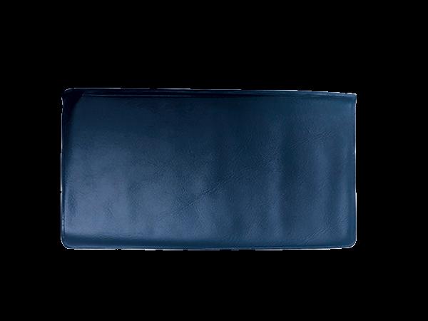 Blue Vinyl Personal Checkbook Cover