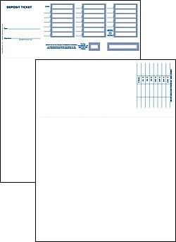 Laser Deposit Slips - Quickbooks Compatible