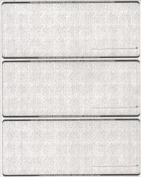 Linen Gray - 3-Up Business Laser Checks