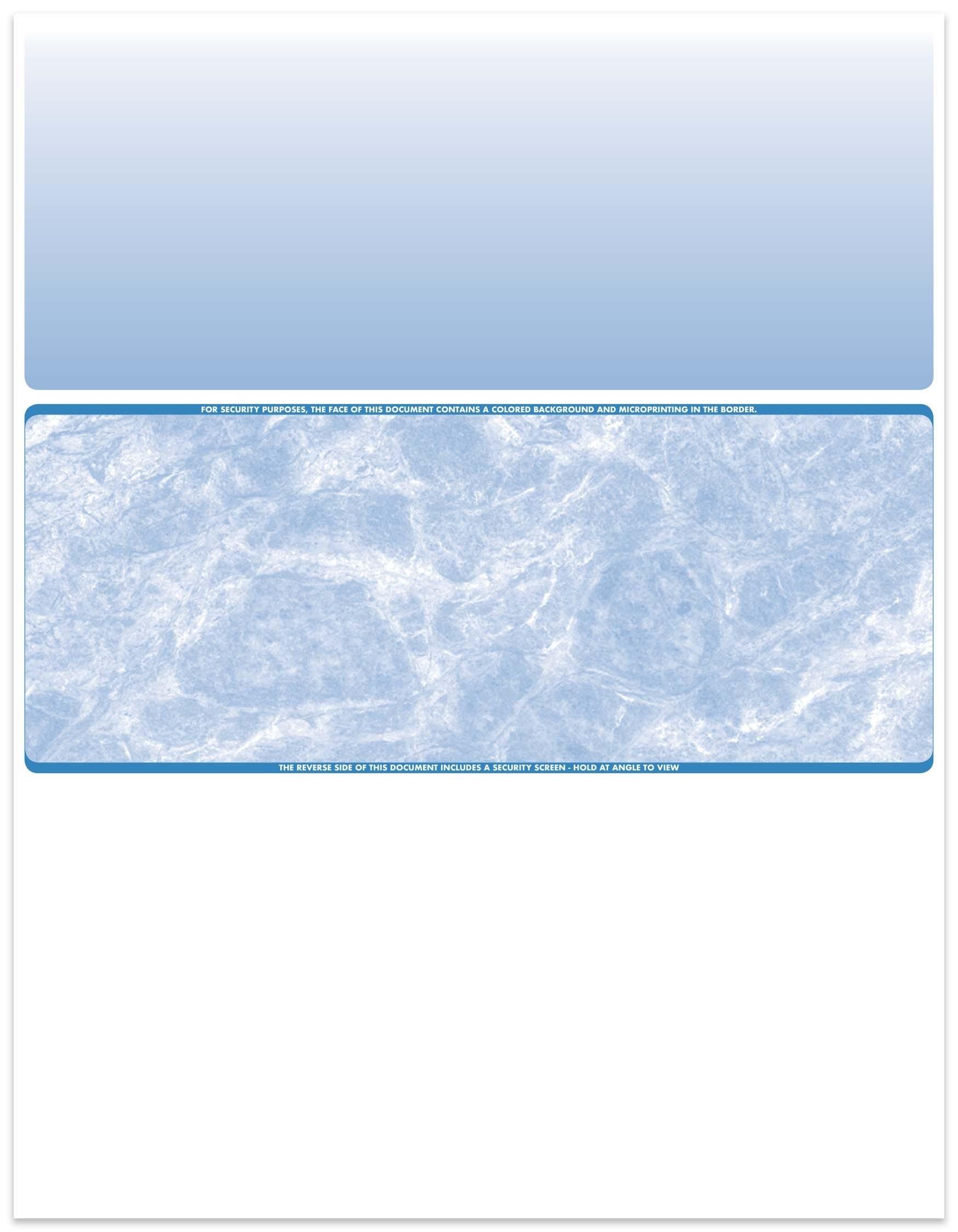 Marble - Reflex Blue Center Business Laser Checks