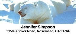 Polar Bear -  2-line Label