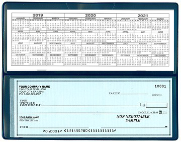 Safety Blue - Single 1 on-a-Page Business Checks