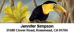 Tropical Birds - 2-line Label