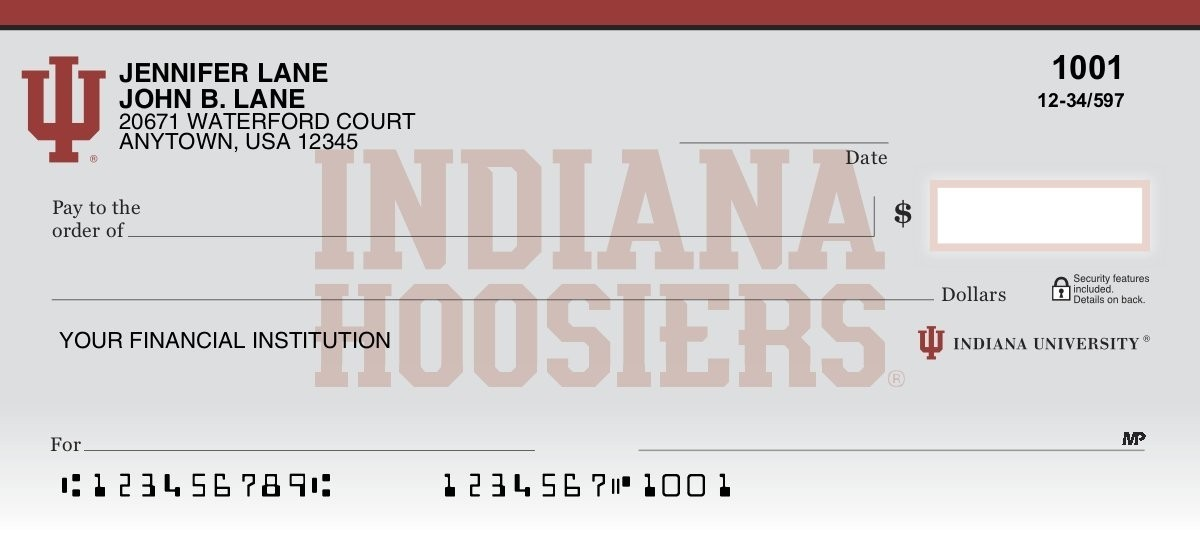 Indiana University - Collegiate Checks