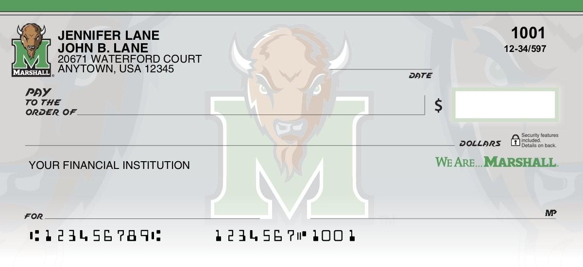 marshall university personal checks