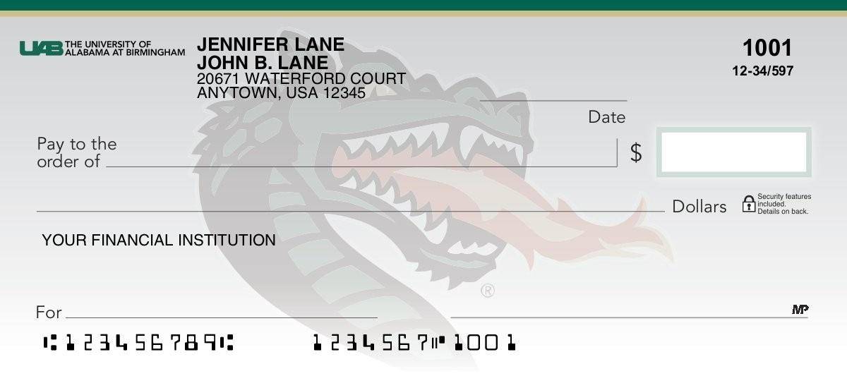 University of Alabama Birmingham - Collegiate Checks