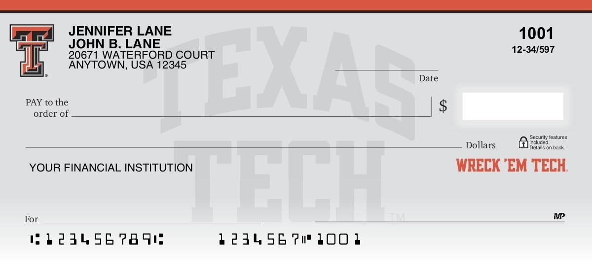 Texas Tech University - Collegiate Checks