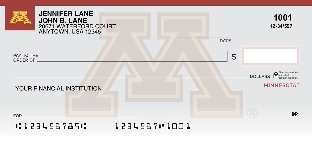 University of Minnesota - Collegiate Checks