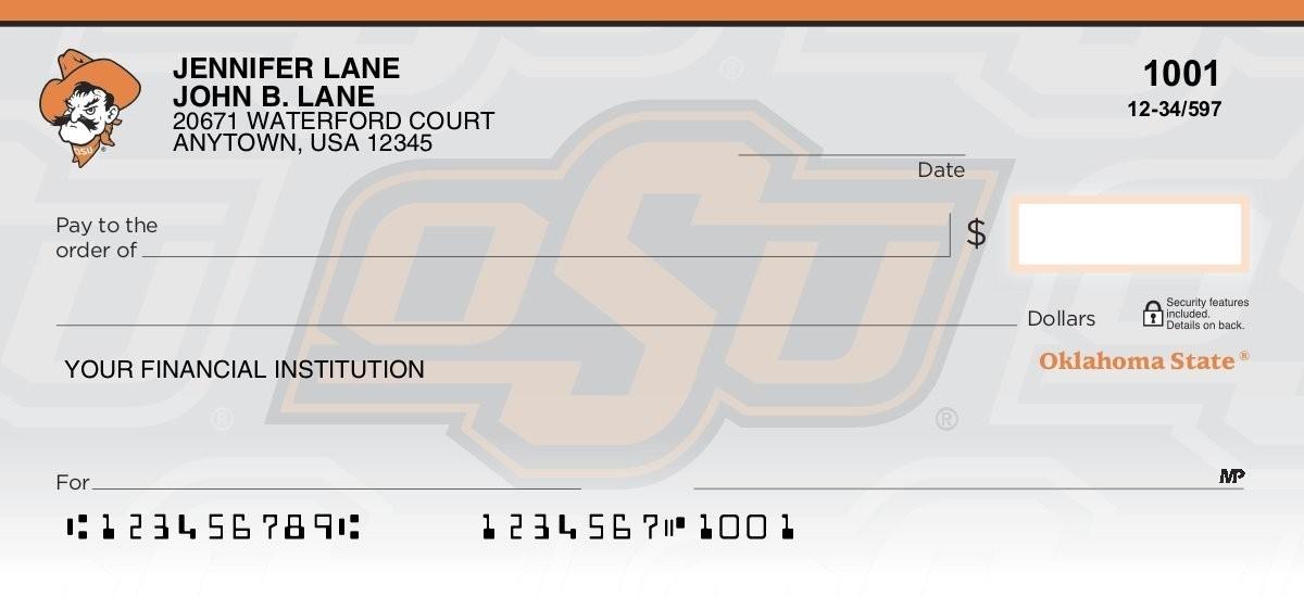 oklahoma state university personal checks