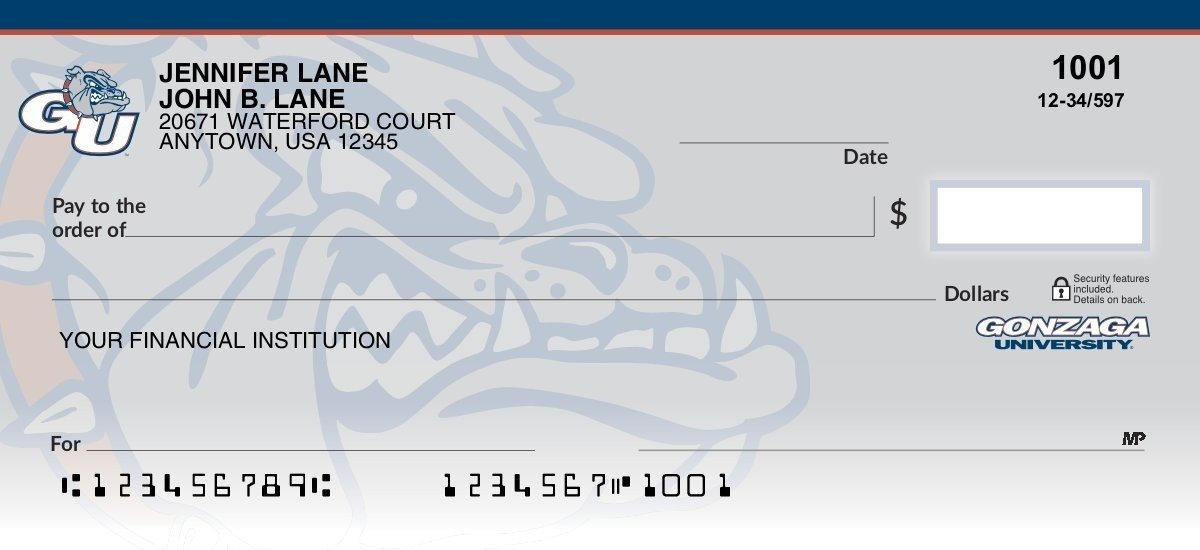 Gonzaga University - Collegiate Checks