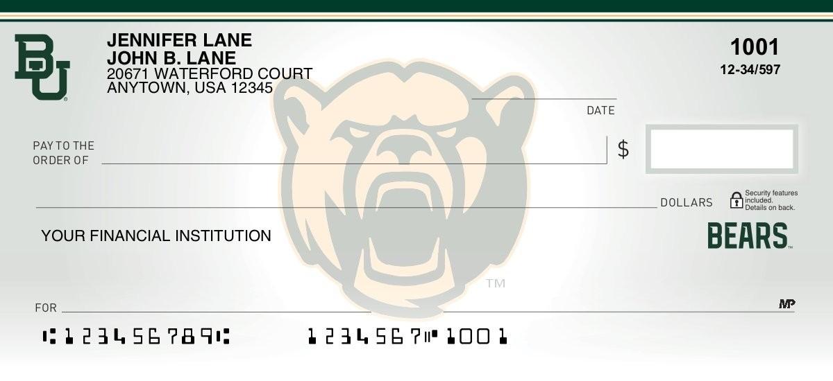 baylor university personal checks