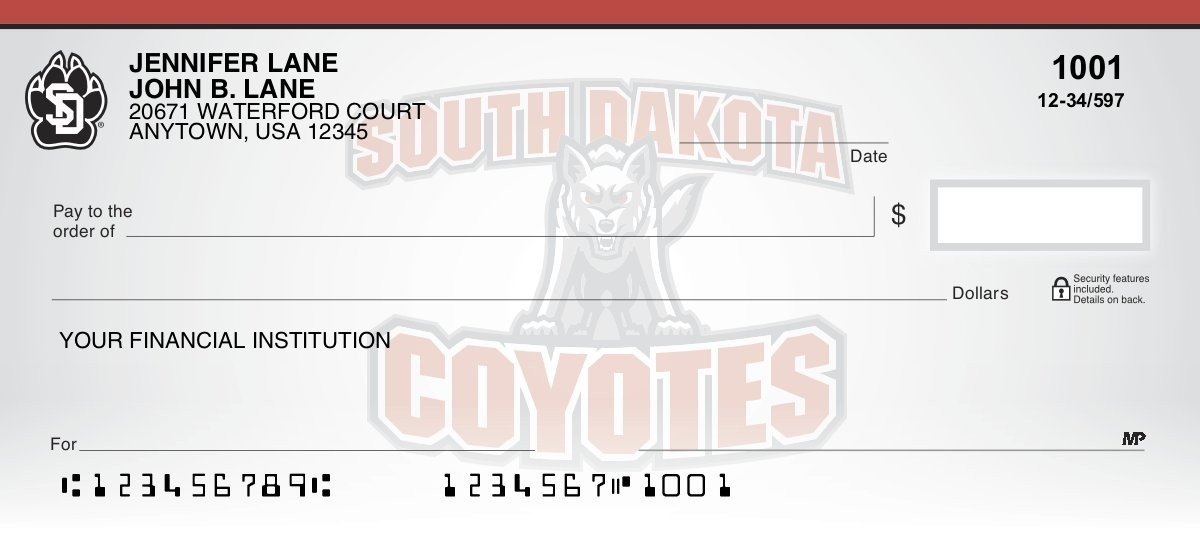 University of South Dakota - Collegiate Checks