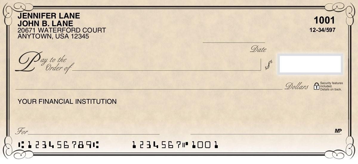 Antique - Personal Checks
