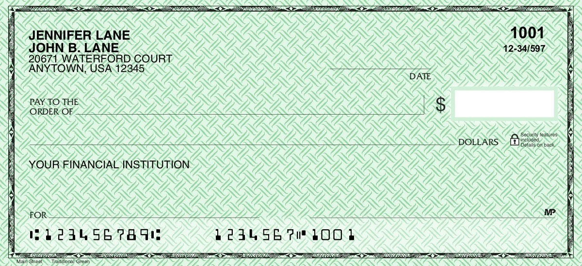 Classic Safety Green - Personal Checks