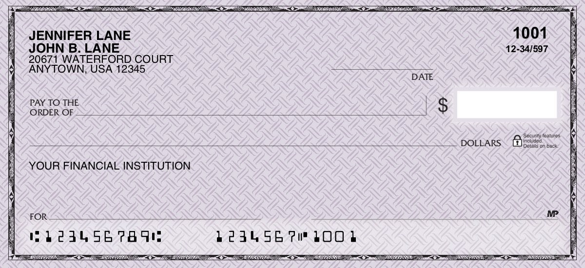 Classic Safety Purple - Personal Checks