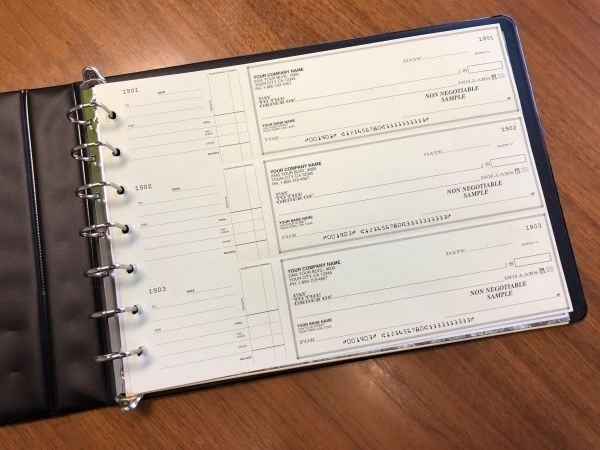 7-Ring LARGE Binder for Business 3-on-a-Page Checks