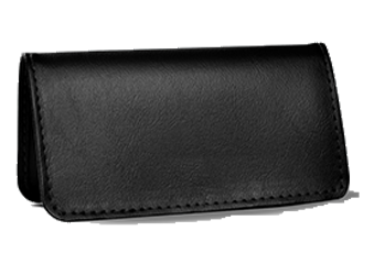 Black - Leather Personal Checkbook Cover
