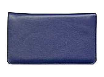Blue Sapphire - Leather Personal Checkbook Cover