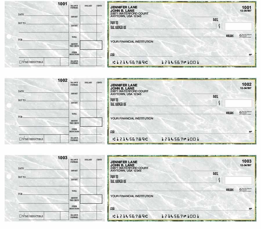 Wall Street 3-Up Desk Checks