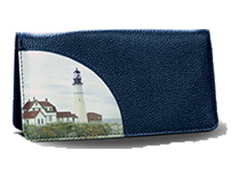 Lighthouse - Leather Personal Checkbook Cover