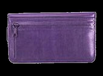 Passionate Purple - Leather Personal Checkbook Cover w/ Zipper