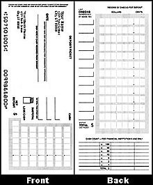Personal Single Deposit Slips - Padded 1 On A Page