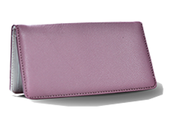 Paris Pink - Leather Personal Checkbook Cover