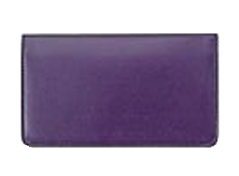 Purple - Leather Personal Checkbook Cover