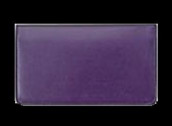 Purple - Leather Personal Checkbook Cover
