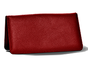Ruby Red - Leather Personal Checkbook Cover