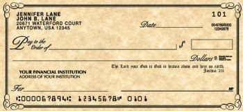 Scripture - Personal Checks