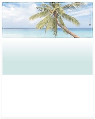 Pristine Beaches - Blue/Green Top Business Laser Checks