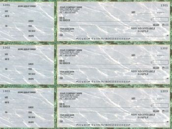 Wall Street - 3-on-a-Page Business Checks w/ General Purpose Stubs