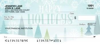 Happy Holiday Winter Scene - Personal Checks