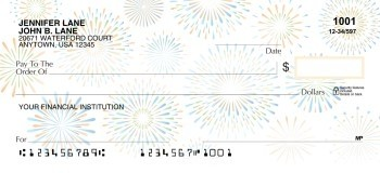 Celebrations in Blue & Gold  - Personal Checks
