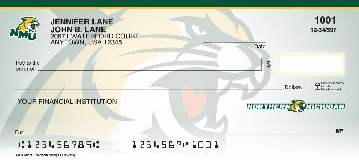 northern michigan university personal collegiate checks