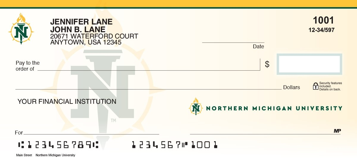 northern michigan university personal checks