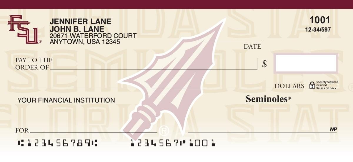 florida state university seminoles checks