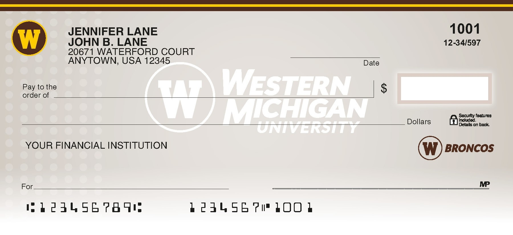 wmu personal checks