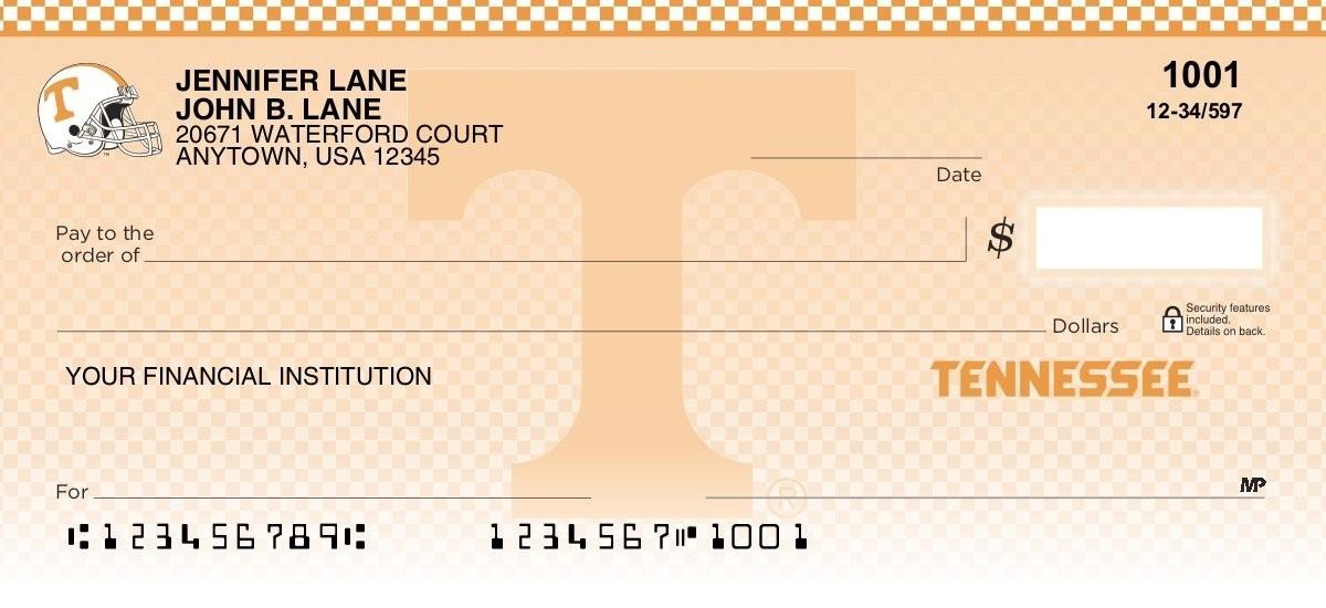 university of tennessee volunteers personal checks