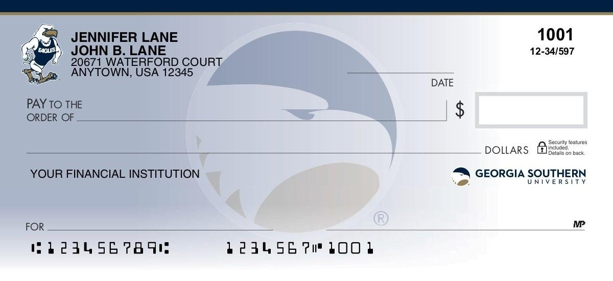 georgia southern eagles personal checks