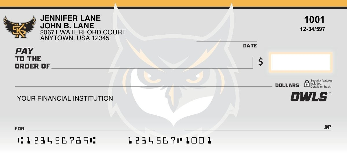 kennesaw state owls personal checks
