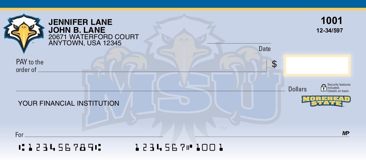 morehead state eagles personal checks