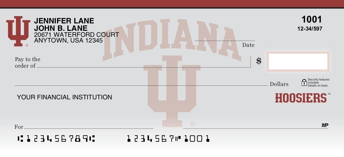 indiana hoosiers personal checks