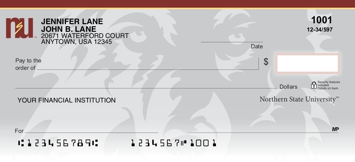 northern state university personal checks