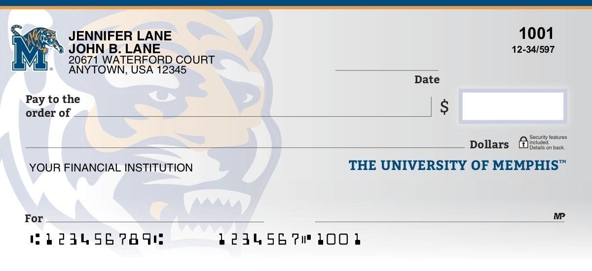 university of memphis personal checks
