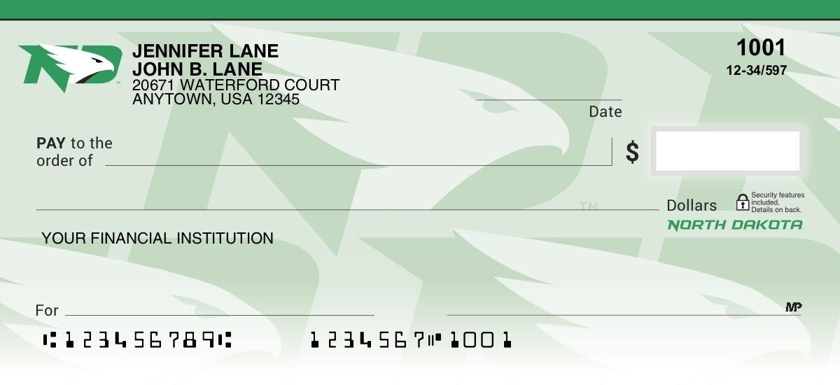 university of north dakota personal checks